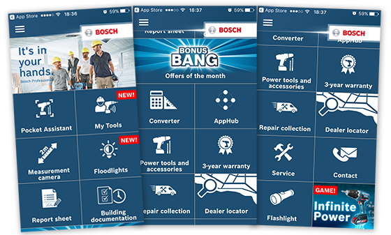Bosch Professional Toolbox App