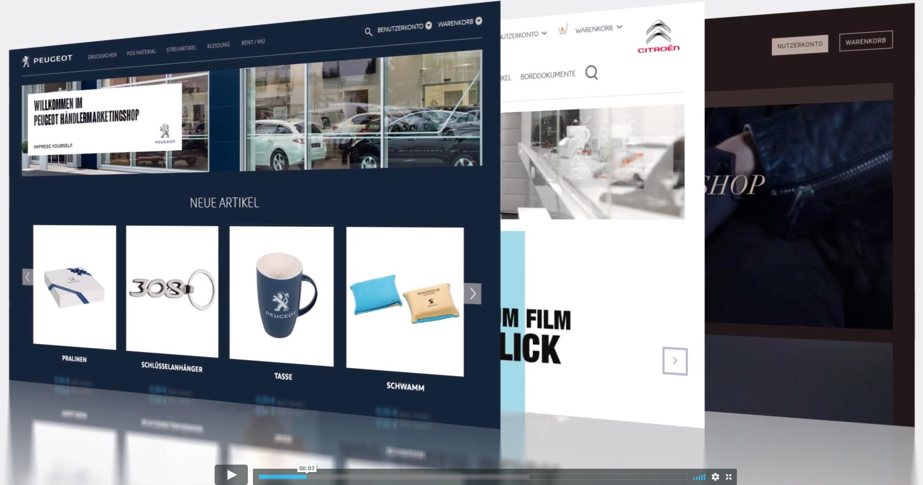 Peugeot/Citroén B2B and B2C E-Shops