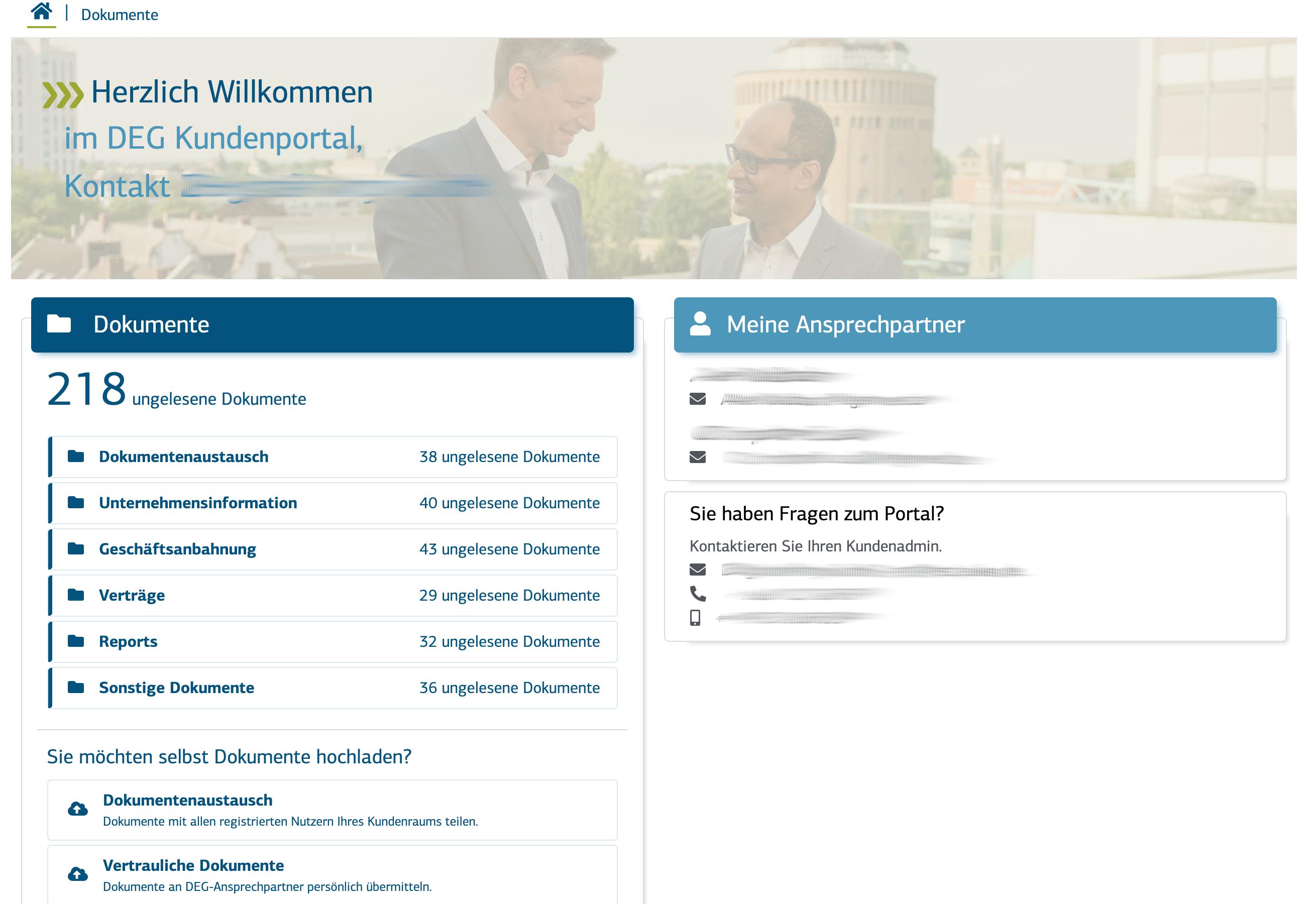 KFW/DEG Bank Kundenportal